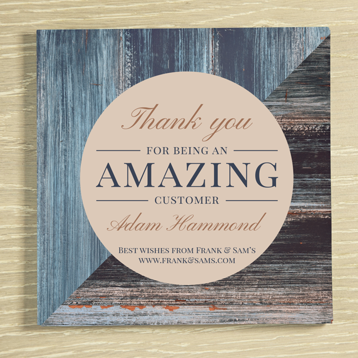 Picture of Corporate thank you personalised chocolate card