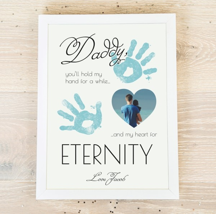 Picture of Daddy hand print personalised poster