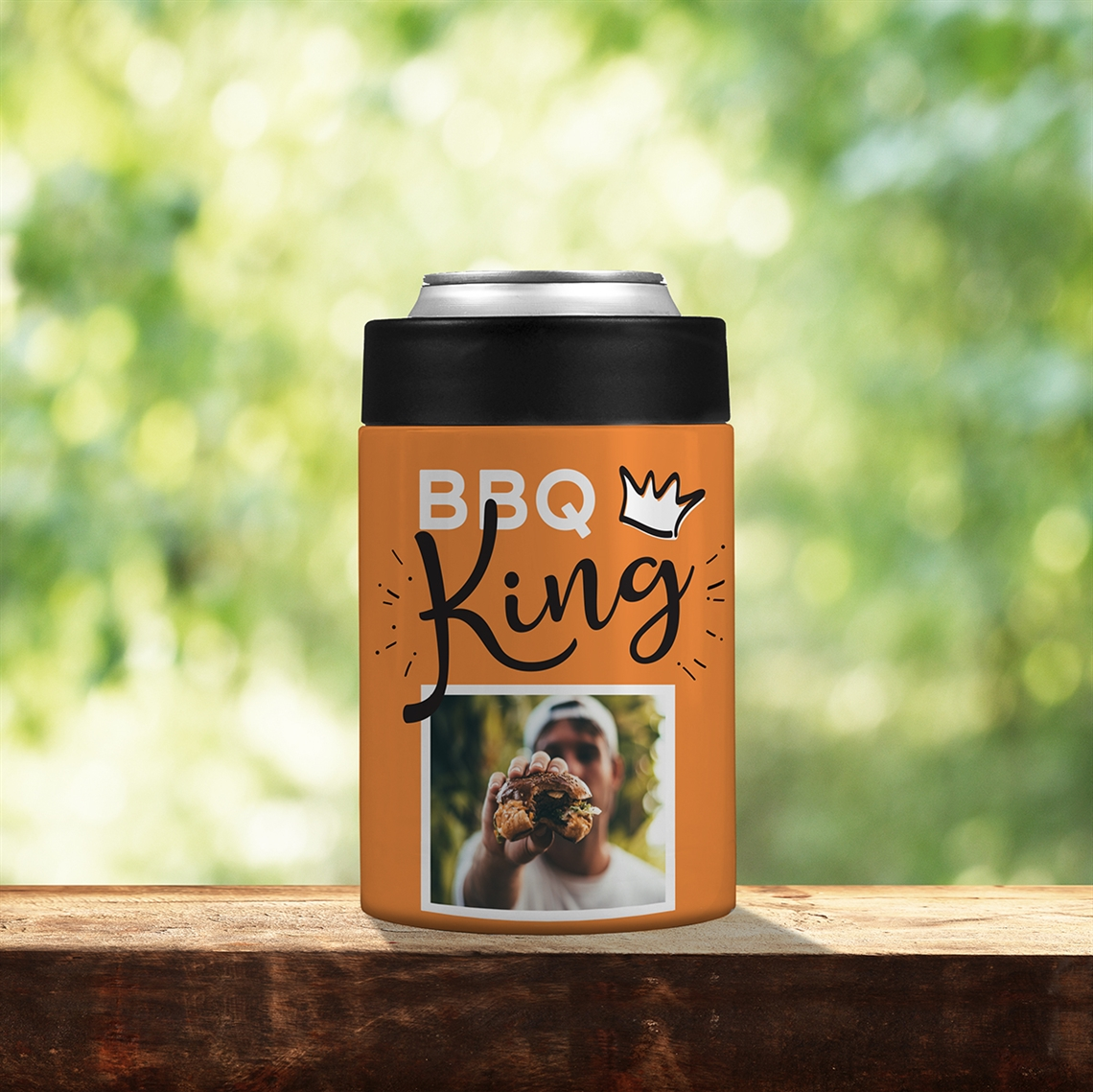 Picture of BBQ King Orange Stainless Steel Koozie