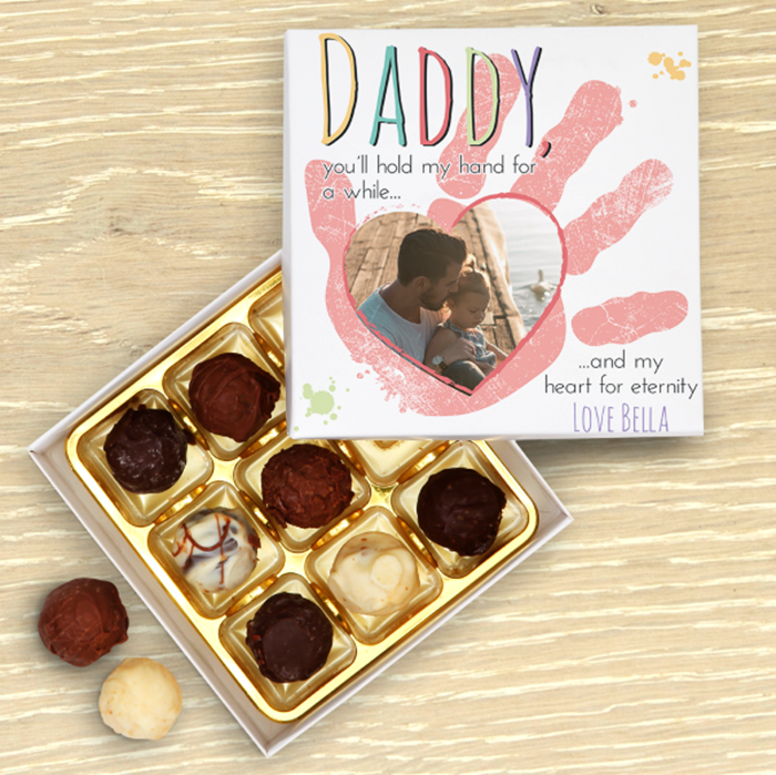 Picture of Hold My Hand Daddy Pink Chocolate Box