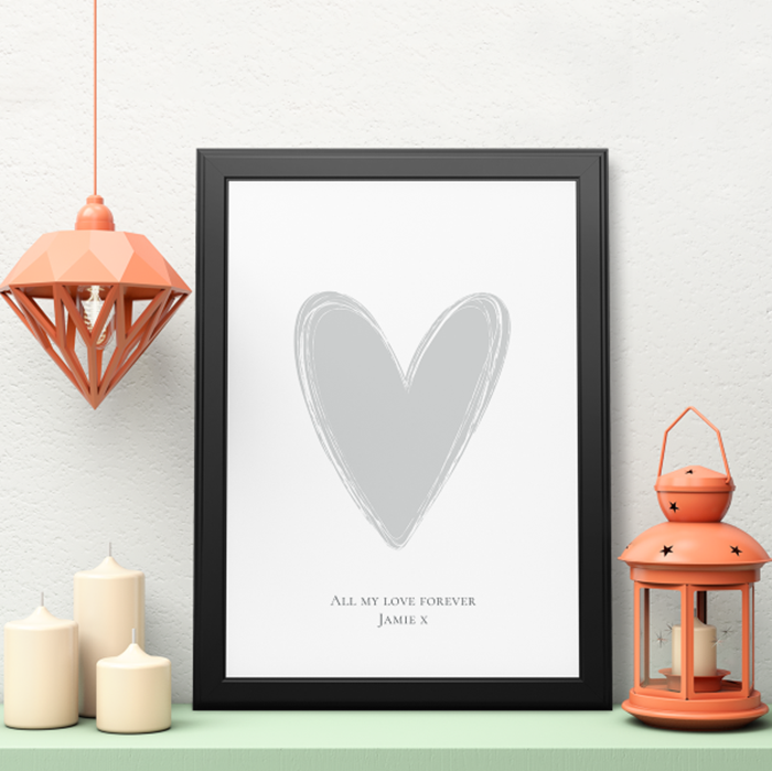 Picture of A3 Heart personalised poster