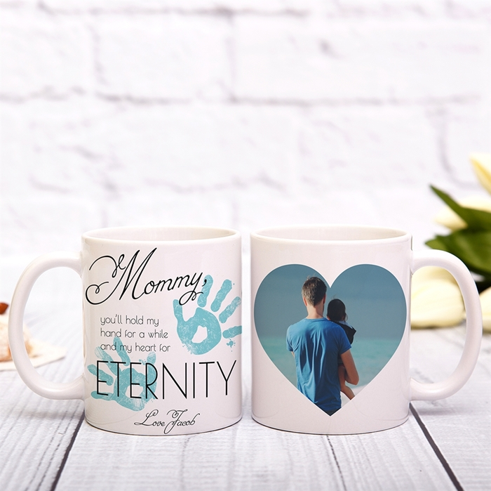 Picture of Hold My Hand Mommy Blue Mug