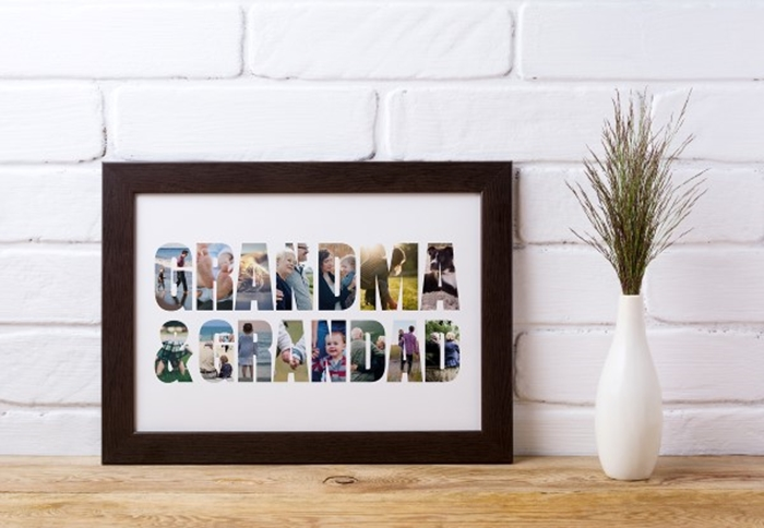 Picture of Grandma & Grandad Photo personalised poster
