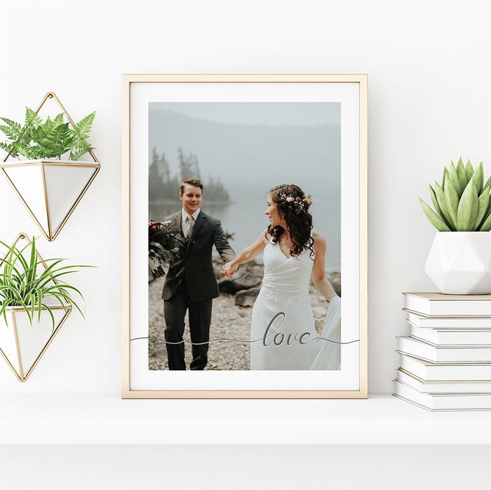 Picture of Love Script Personalized Poster