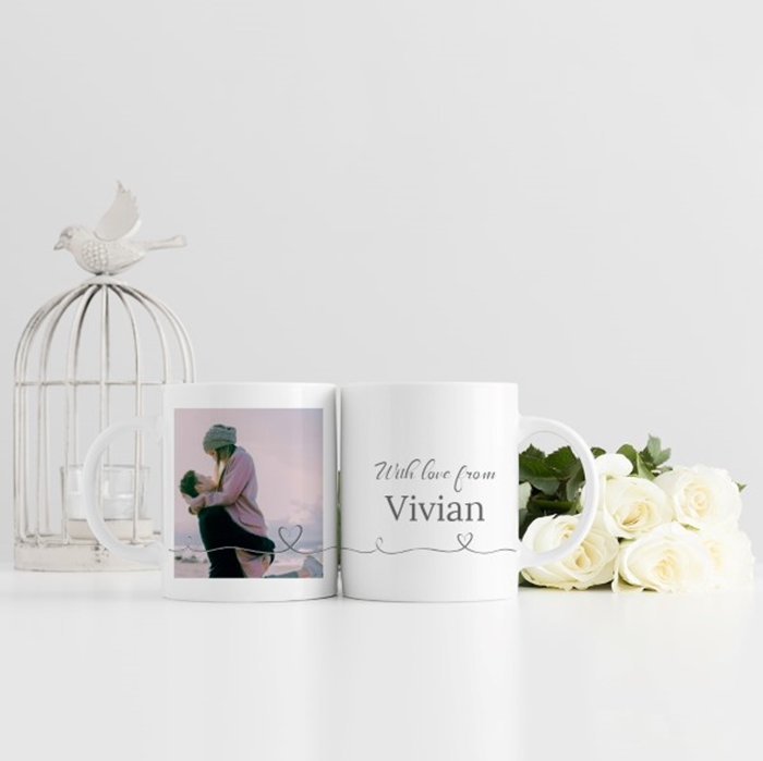 Picture of Heart Script personalised mug