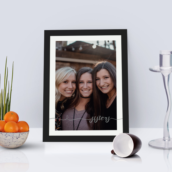 Picture of A4 Sisters script personalised poster