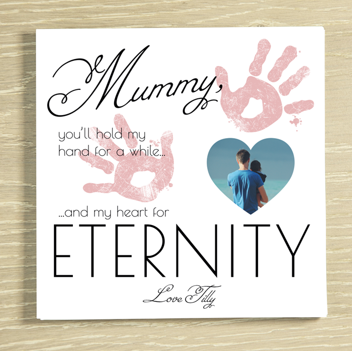 Picture of Mummy Eternally personalised chocolate card