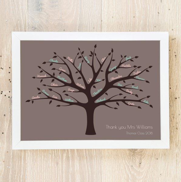 Picture of A4 Large Family Tree personalised poster