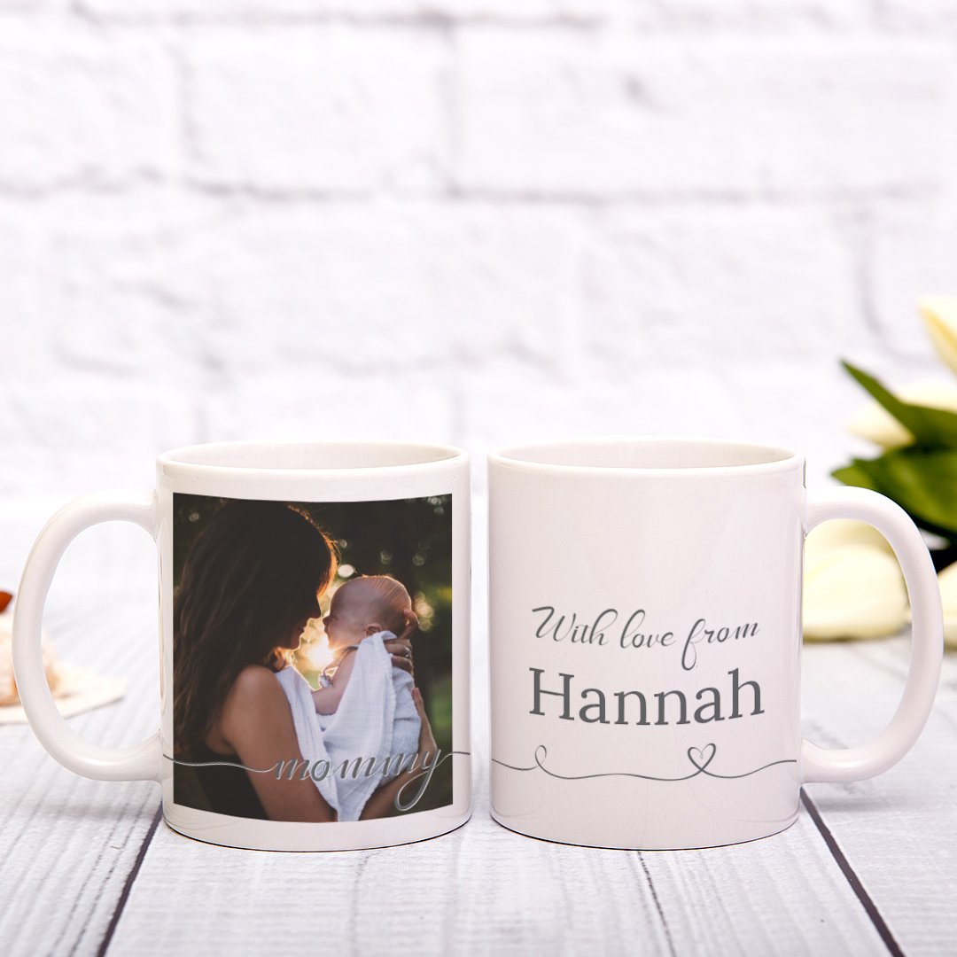 Picture of Mommy Script Personalized Mug