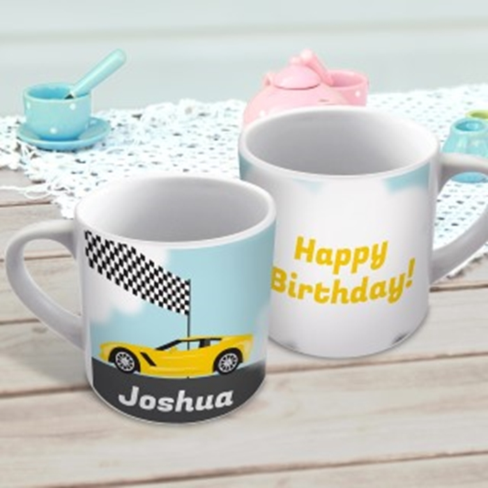 Picture of Racing car child's personalised mug