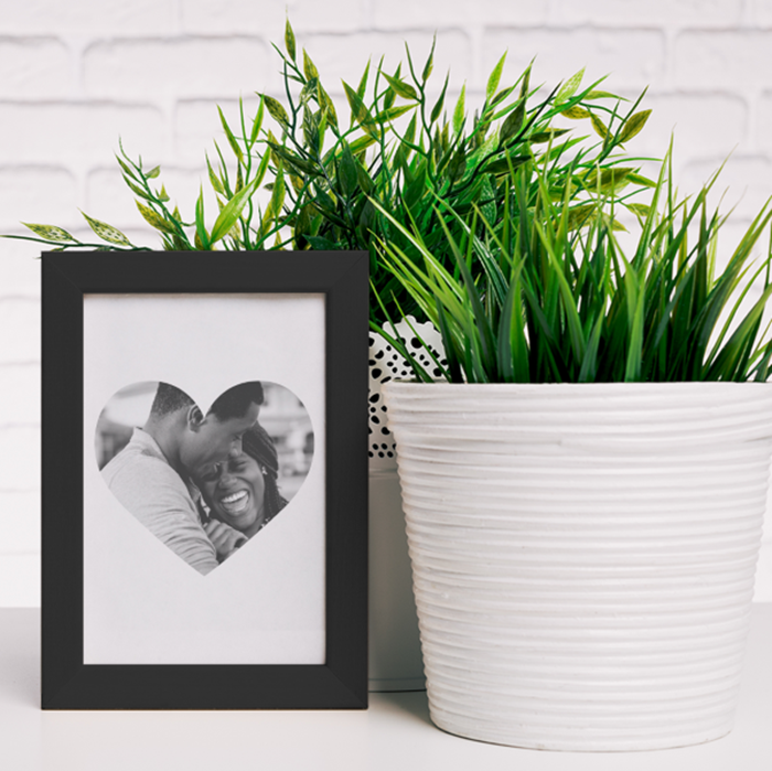 Picture of A5 heart photo personalised poster