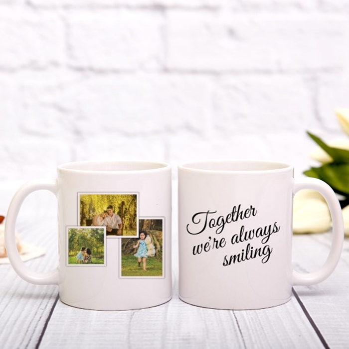 Picture of Together we're always smiling photo personalised mug