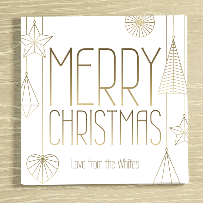 Picture of Contemporary Christmas Personalised Chocolate Card