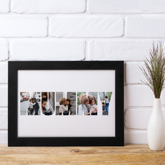 Picture of Mummy photo personalised poster