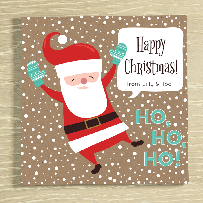 Picture of Christmas Santa Personalised Chocolate Card