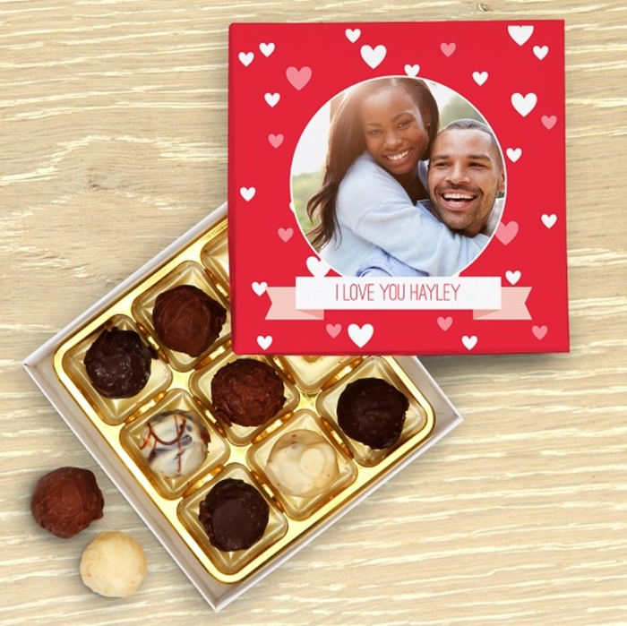 Picture of Love Heart Personalised Chocolate Box