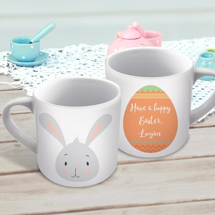 Picture of Easter Bunny child's personalised mug