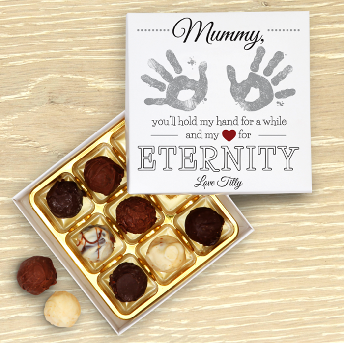Picture of Mother's Day Hand prints Personalised Chocolate Box