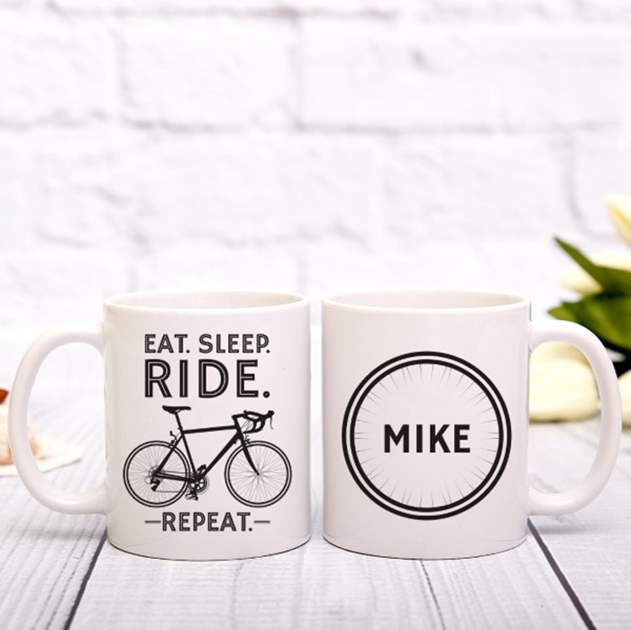 Picture of Eat. Sleep. Ride. Repeat. Personalized Mug