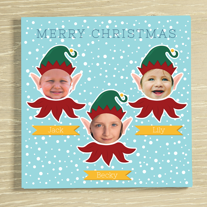 Picture of Christmas Elf-yourself 3 Personalised Chocolate Card