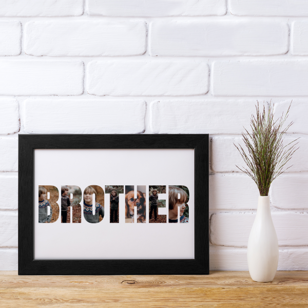 Picture of A4 Brother Photo personalised poster