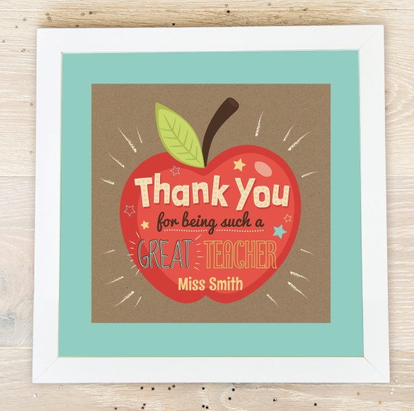 Picture of Great Teacher Personalized Poster