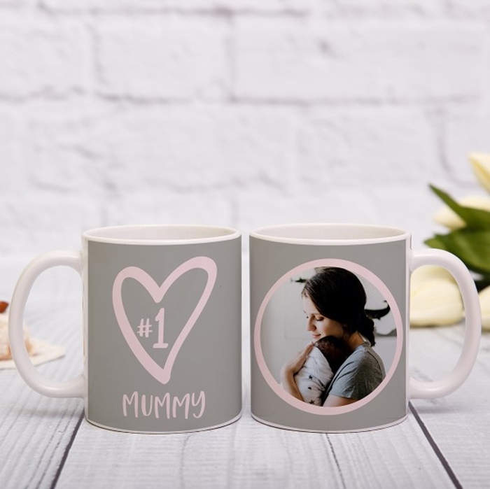 Picture of NUMBER 1 photo personalised mug