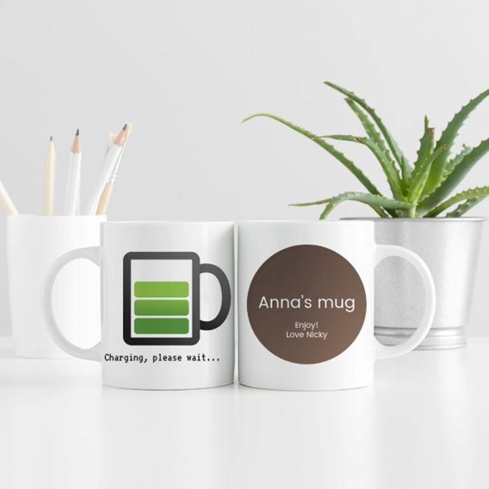 Picture of Charging, Please Wait personalised mug