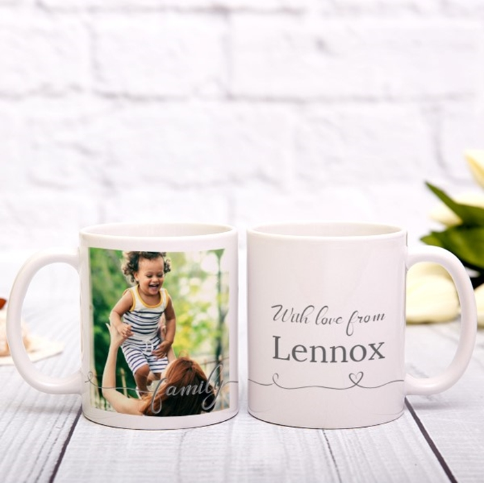 Picture of Family Script Personalized Mug