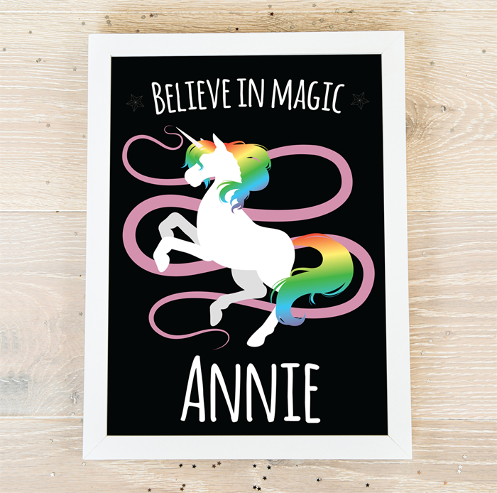Dancing Unicorn personalised poster