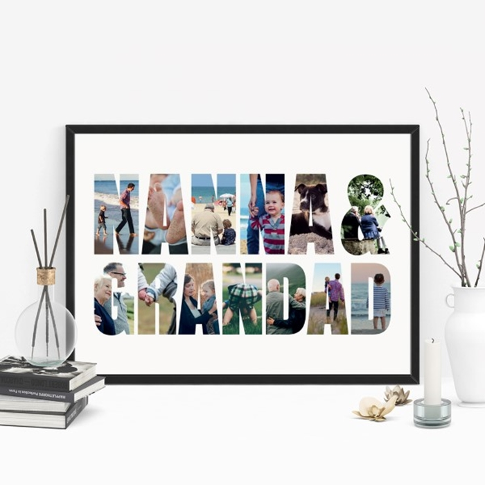 Picture of A3 Nanna & Grandad Photo personalised poster
