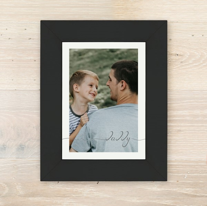 Picture of A5 Daddy script personalised poster