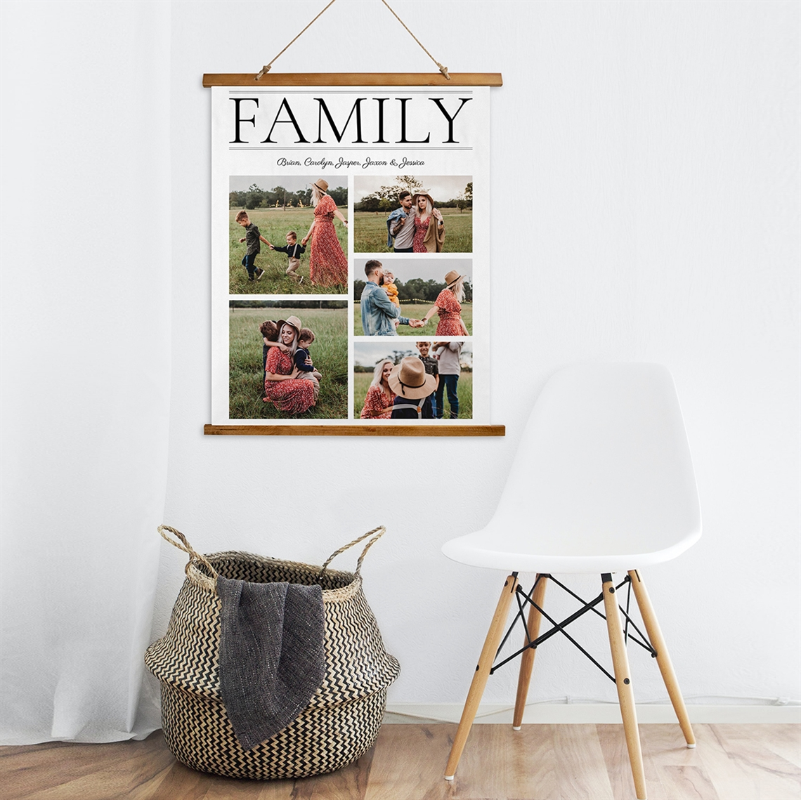 Picture of Family Wooden Wall Tapestry