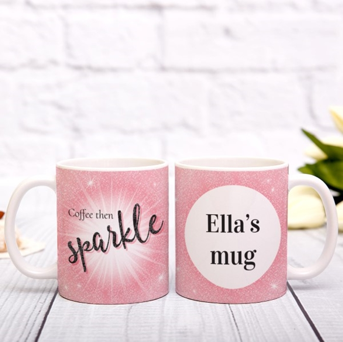 Picture of Coffee then sparkles personalised mug