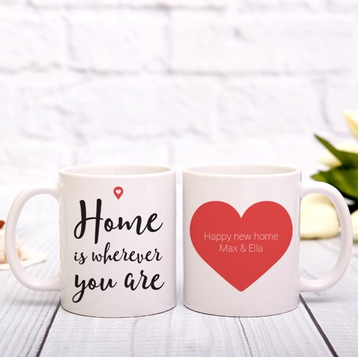 Picture of Home is wherever you are personalised mug