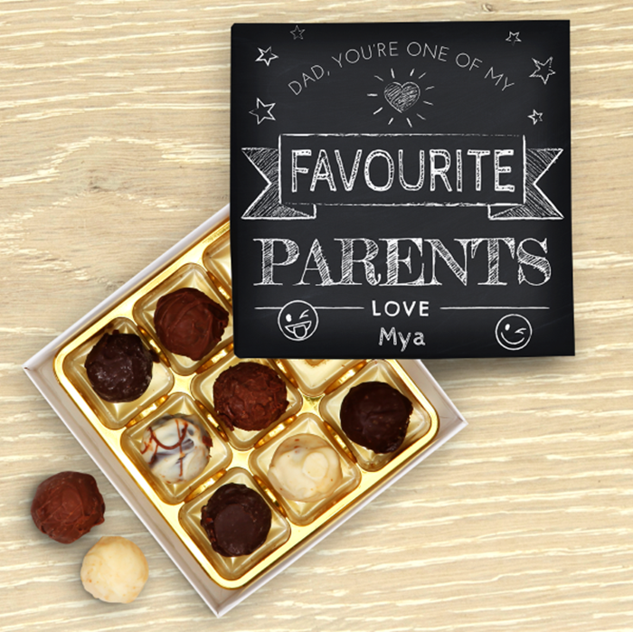 Picture of Favourite parent personalised chocolate box