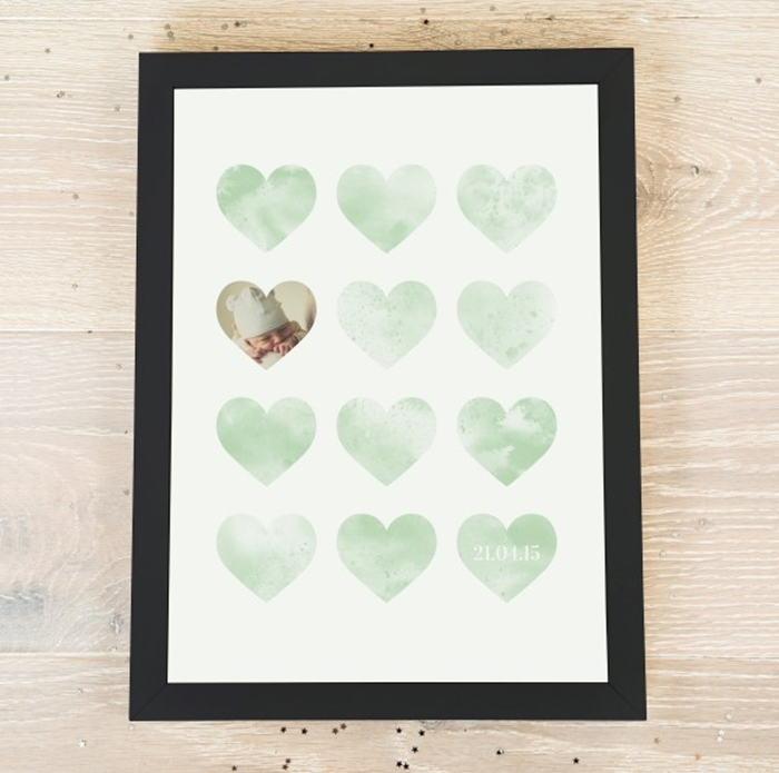 Picture of A3 Lots of love personalised poster