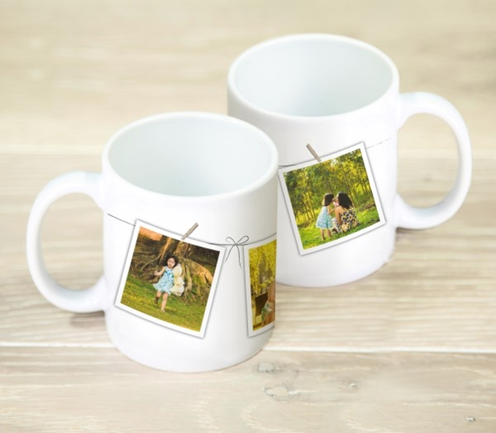 Picture of Washing line photo personalised mug