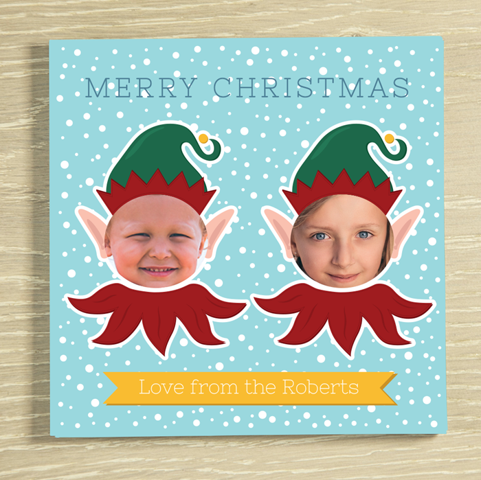 Picture of Christmas Elf-yourself 2 Personalised Chocolate Card