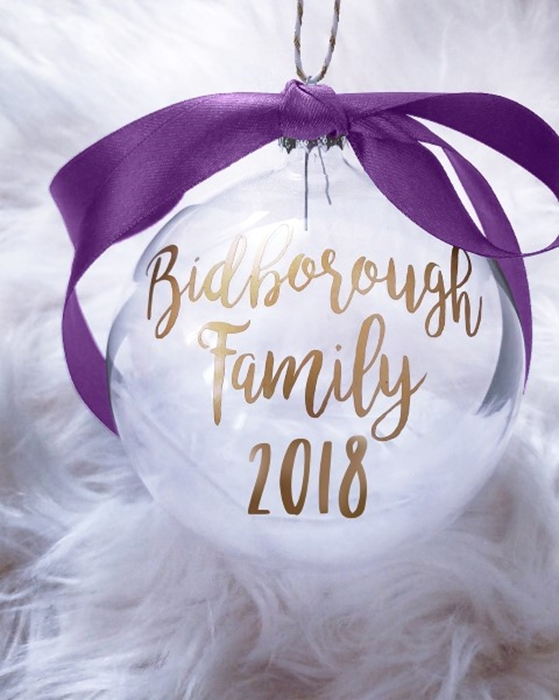 Picture of Family Personalised baubles