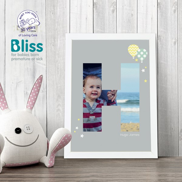 Picture of A4 Baby Alphabet 'H' personalised poster