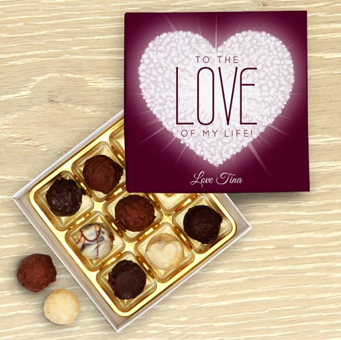 Picture of Love of My Life Personalised Chocolate Box