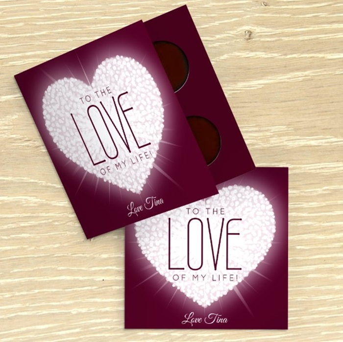 Picture of Love of My Life personalised chocolate card