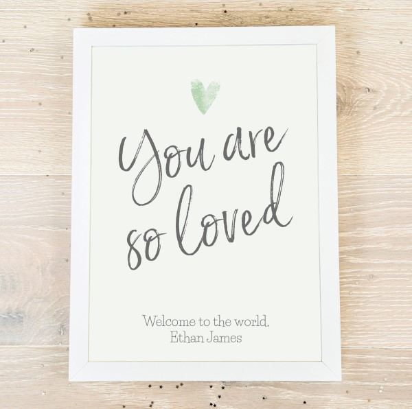 Picture of A4 You are so loved personalised poster