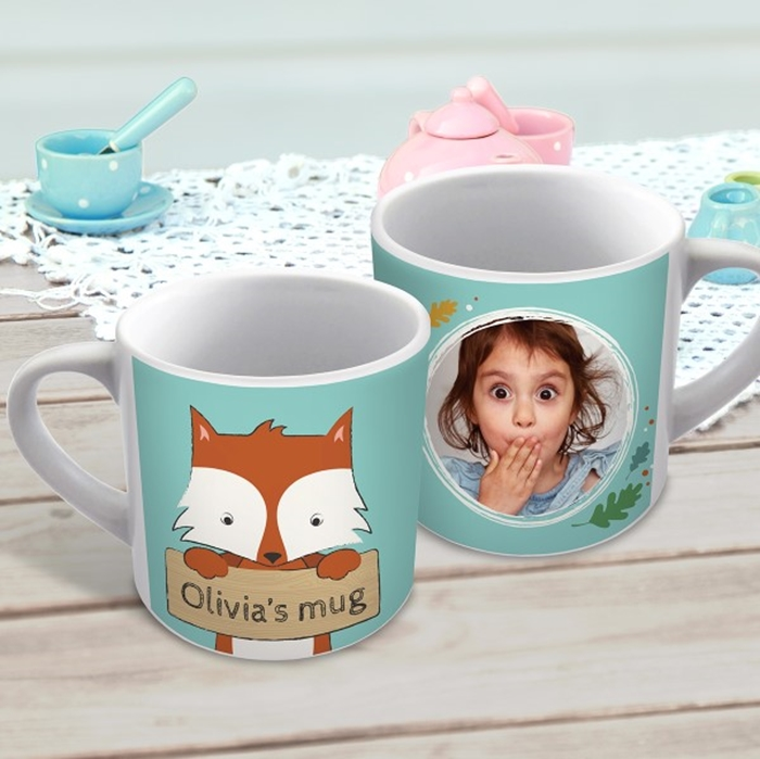 Picture of Cute fox child's personalised mug