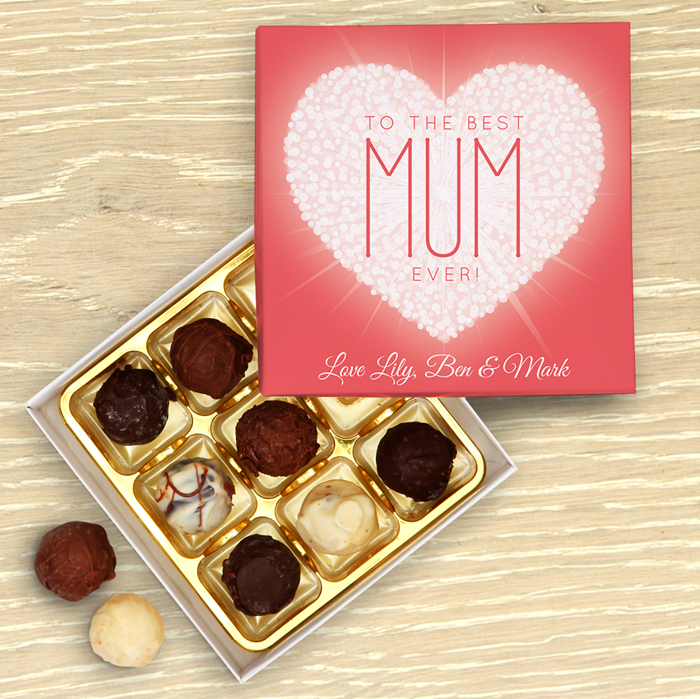 Picture of Mother's Day Heart Personalised Chocolate Box