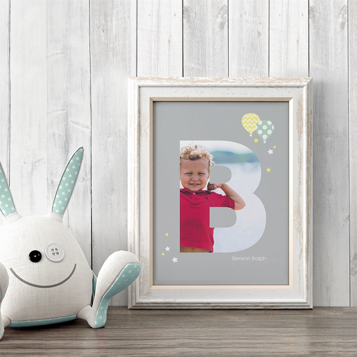 Picture of Baby & Kids Letter B Poster