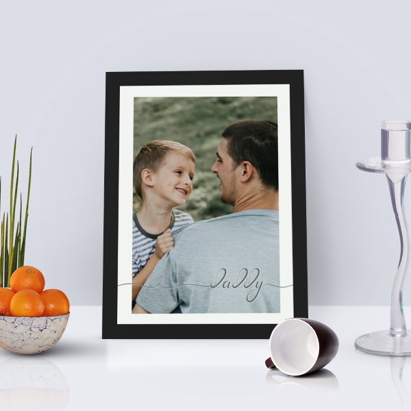 Picture of A4 Daddy script personalised poster