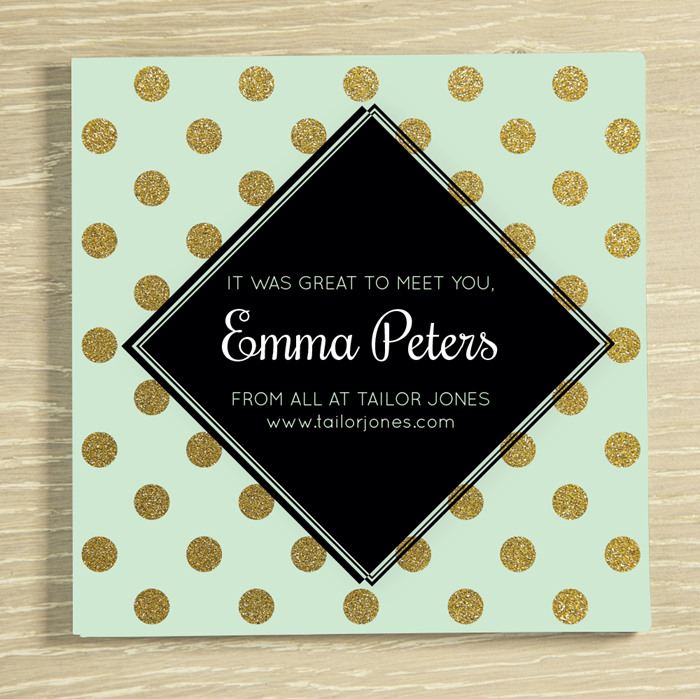 Picture of Any message polka dots personalised chocolate card