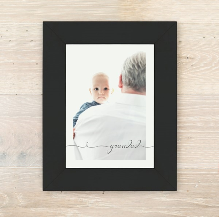 Picture of A5 Grandad script personalised poster